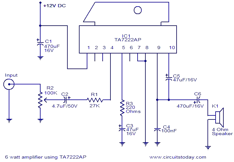 Connecting A 5w  12vdc Amp To A 12vdc Telephone Intercom
