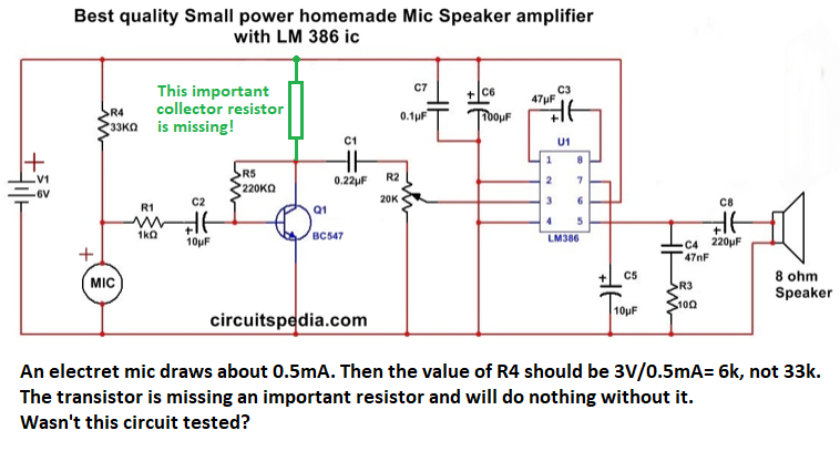 Simple Amplifier Circuit Diagram Using Transistor