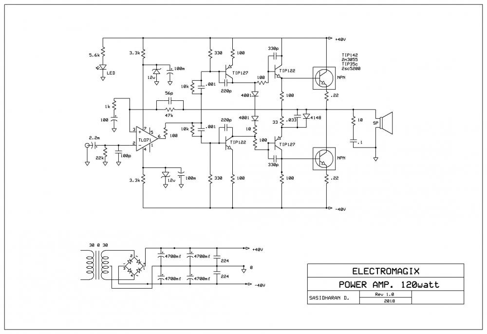 How to make Audio power Amplifier Circuit - Electronic